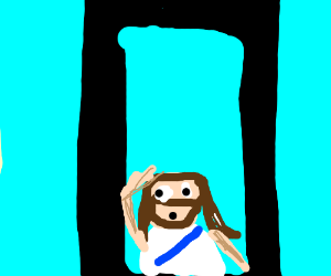 Taking a picture of Jesus with a smartphone