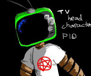 Tv head character pio