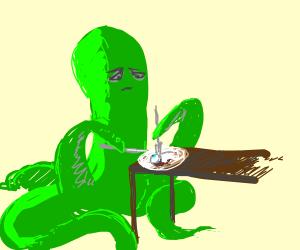 Tentacle monster eats an eyeball