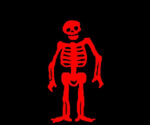skeleton made of BLOOD