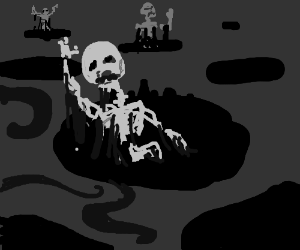A skeleton that is unrelated to undertale