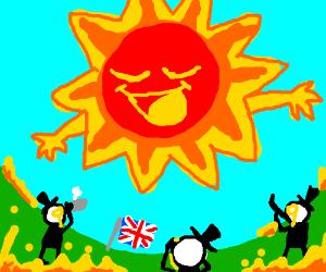 No, Sun! You can't hug England!