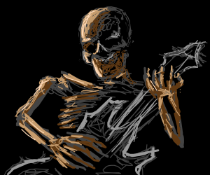 Metal music played by skeletons