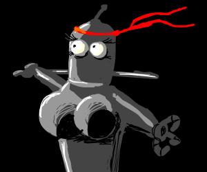 Robo-ninja woman