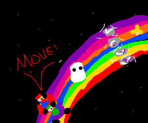 Get off Rainbow Road,Boo! We're tryin to race!