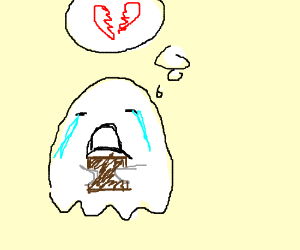 Ghost crying about it's Ex