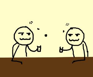 Two drunk men