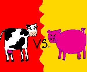 cow vs. pig