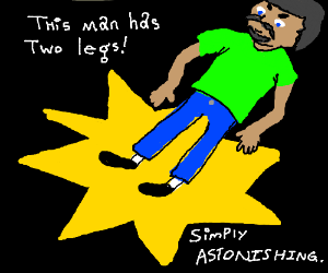 A man with TWO legs