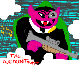 """Count von Count in the movie """"The aCOUNTant."""""""