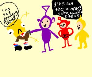 very poorly drawn spongebob vs teletubies