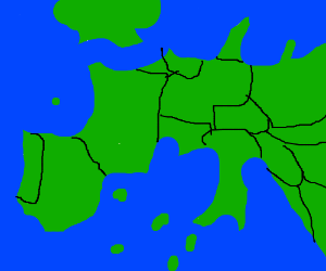 Map Of Europe 1942 With The 2 Sides Shown Drawception