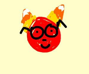 Nerdy Devil With Candy Corn horns