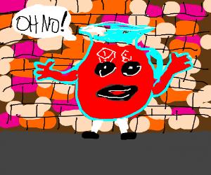 Kool-Aid Man Fails to Break Through Wall - Drawception Hey Kool Aid Videos Breaking Through Walls