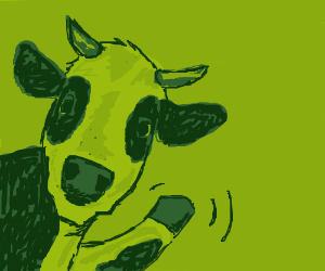 waving cow
