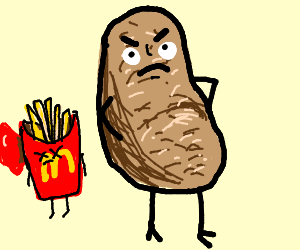the grumpy potato Your dress is too short thanks, the designer used your dick for inspiration.