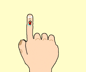 Dummy finger.