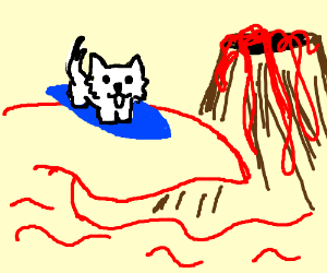 Toby Fox lava surfing