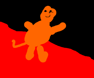 garfield riding the blood wave into hell