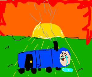 Thomas the tankengine dramatic death in sunset