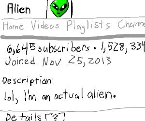 Alien Youtuber