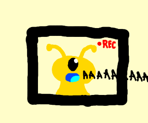 Screamig one eyed yellow alien thing from movi