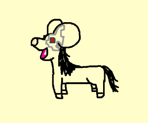 Bleeding Cyborg Mouse Horse