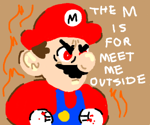 Mario in a Fight