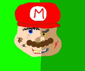 The two sides of Mario ugly and mean