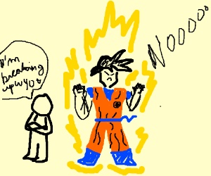 Child breaks up with Goku, he is very angry
