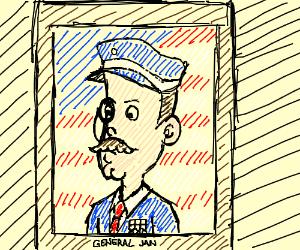 A general with moncocle comissions portrait