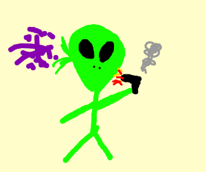 alien committing suicide