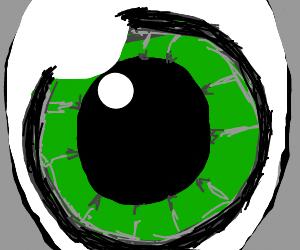 really creepy green eye