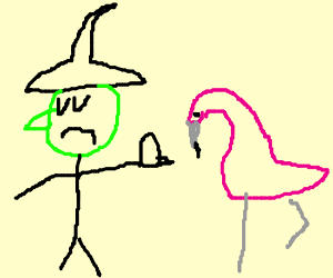 Witches don't care about flamingos