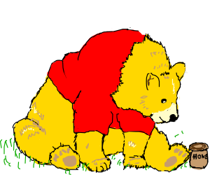 Winnie the pooh is a realistic bear