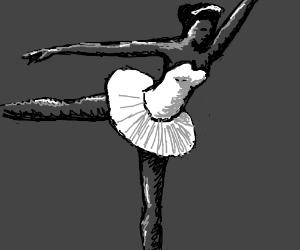 Black and white ballerina