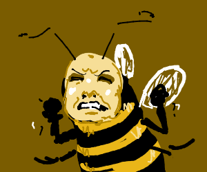 Angery Bee Face