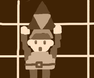 Link finds a Triforce