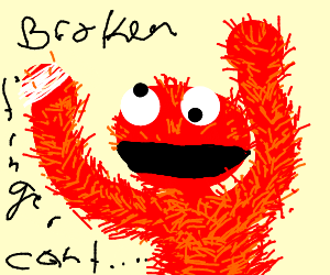 Then Elmo broke his toe (cont story)