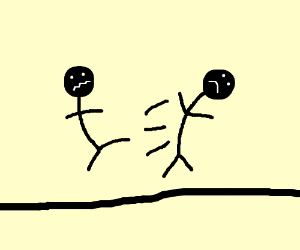 Stickman fight scene