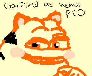 Garfield As Memes Pio Drawception