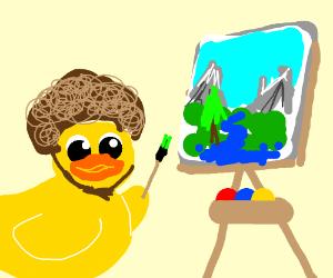 Bob Ross is Rubber Ducky