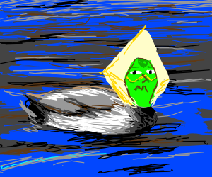 """One of these """"ducks"""" is Peridot in disguise."""