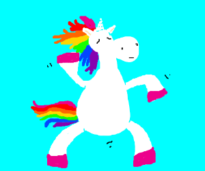 unicorn dancing