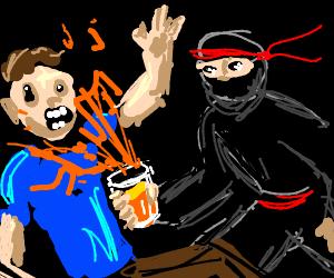 ninja revenge using orange juice