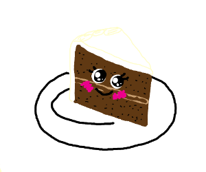 piece of cake with face