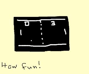 Pong game screen.