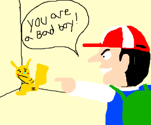 Pokémon getting bullied in to a small space