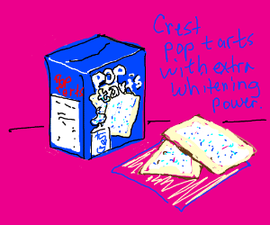 A tooth paste flavored poptart