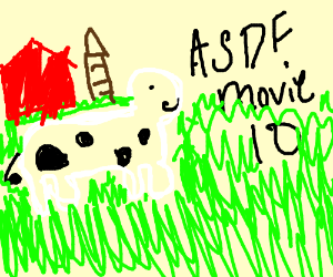 the cow from asdf movie 10 drawception